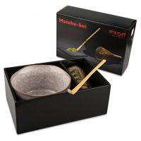 Matcha-Schale Crackle Komplett-Set